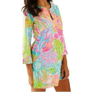 Lilly Pullitzer S Marco Island Lovers Coral Tunic